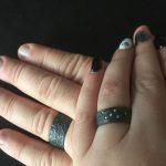 Zwarte trouwringen in zirkonium door Hein Vera