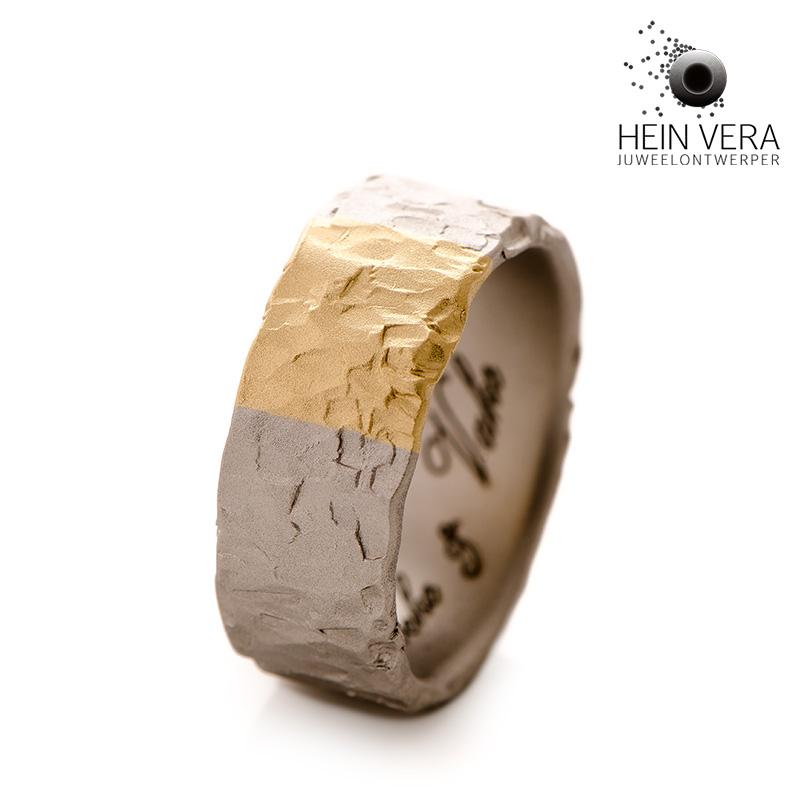 Ring in palladium met goud van de klant_HeinVera