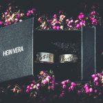 Trouwringen in wit en rozé goud met laserwerk_HeinVera