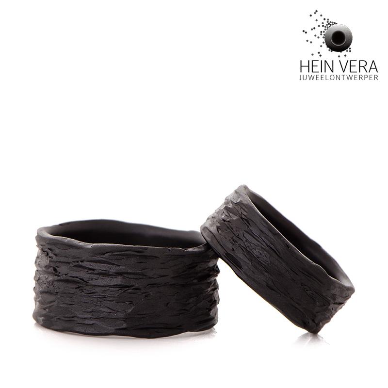 Zwarte trouwringen in zirkonium HeinVera