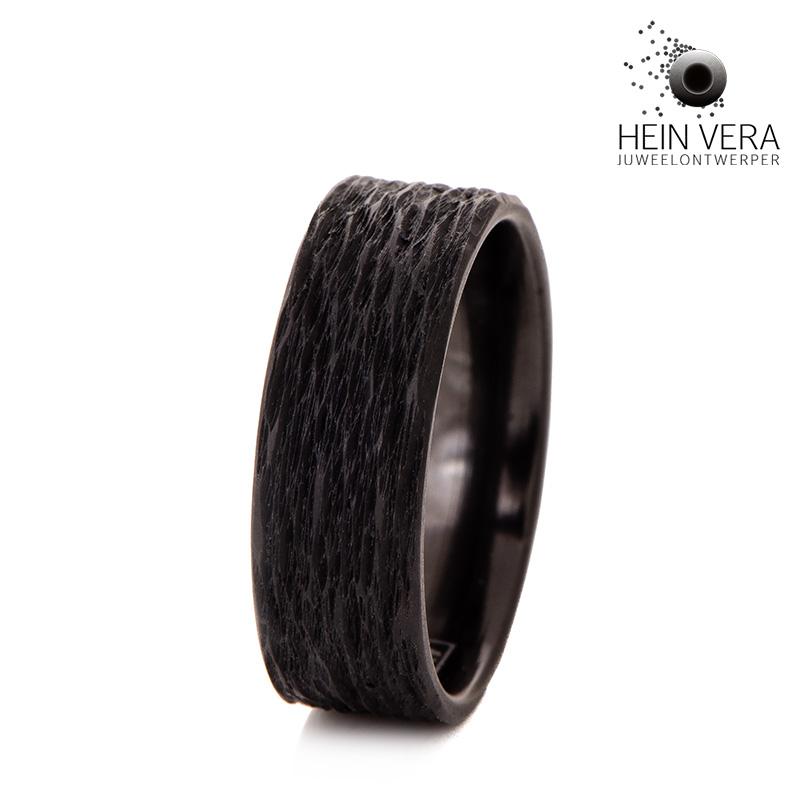 Zwarte zirkonium ring HeinVera
