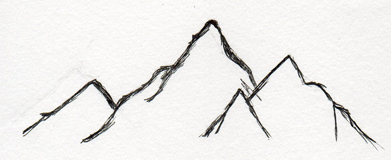 tekening bergen