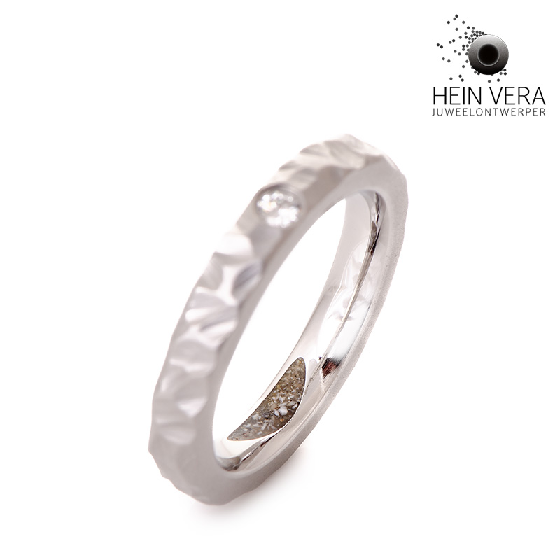 Asring in cobalt-chrome met diamantje_heinvera