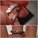Asring in cobalt-chrome met diamantje en as in verwerkt_heinvera