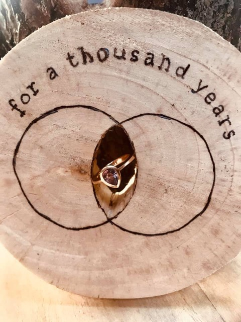 Ring in rozé goud met roze spinel_heinvera