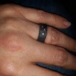 Zwarte zirkonium ring met diamantjes_heinvera