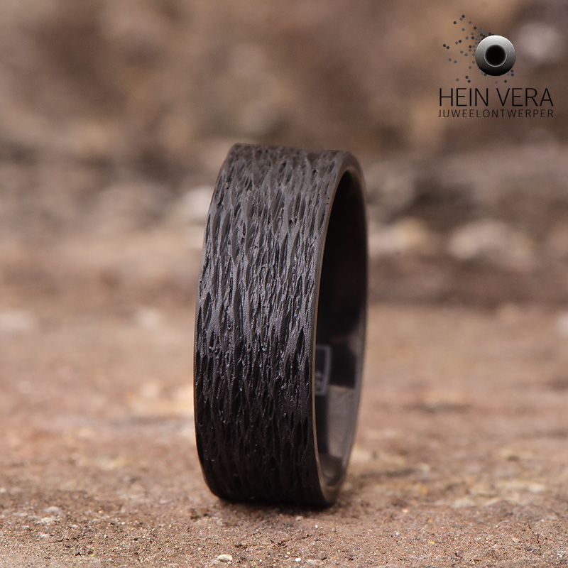 Ring in zwart zirkonium_heinvera