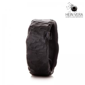 Brute zwarte trouwring HeinVera