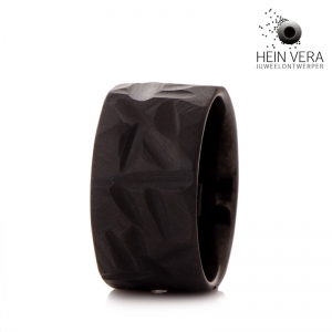 Zwarte trouwring in zirkonium HeinVera
